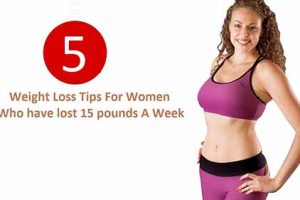 5 Best Weight Loss Tips For Women Who have lost 15 pounds A Week