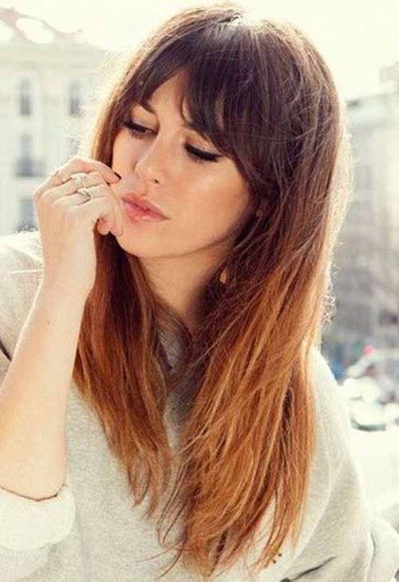 12 Best Long Hairstyles With Fringe that you don't want to miss!