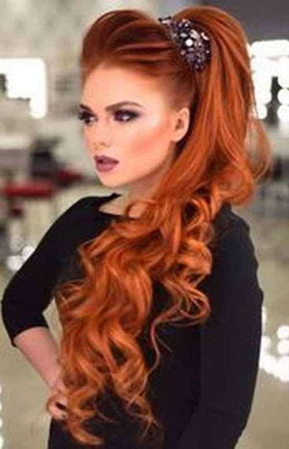 13 Dazzling Red Long Hairstyles And Haircuts 2020
