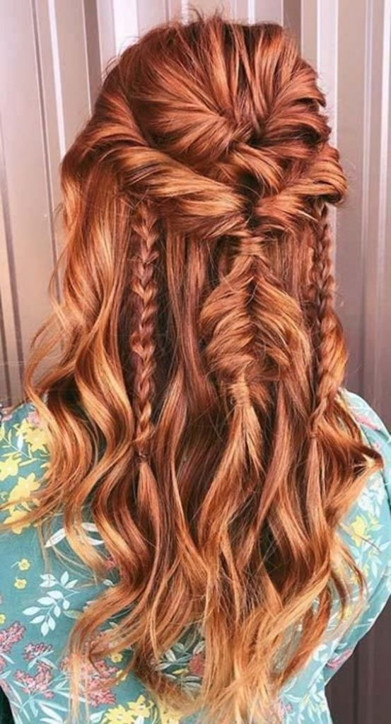 30 Dazzling Red Long Hairstyles And Haircuts 2020