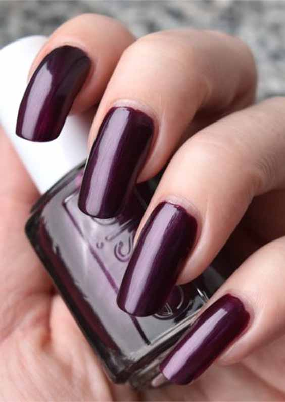 Burgundy Is One Of The Trendiest Nail Colors To Wear For The Winter