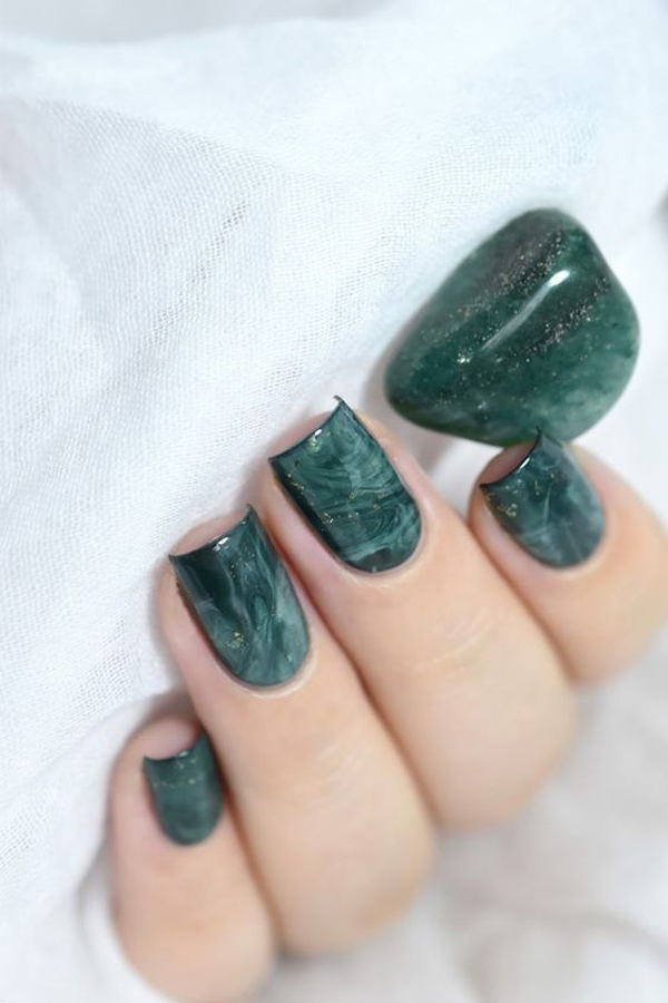 24 Most Gorgeous Green Nail Design To Get The Best Natural Beauty