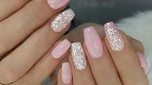 7 Artistic Pink Nail Designs with Glitter Accent You Wish to Wear On