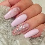 7 Artistic Pink Nail Designs with Glitter Accent You Wish to Wear On!