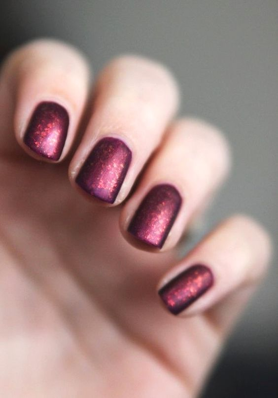 7 Burgundy Color Matte Nail Arts to Rock Your Look!