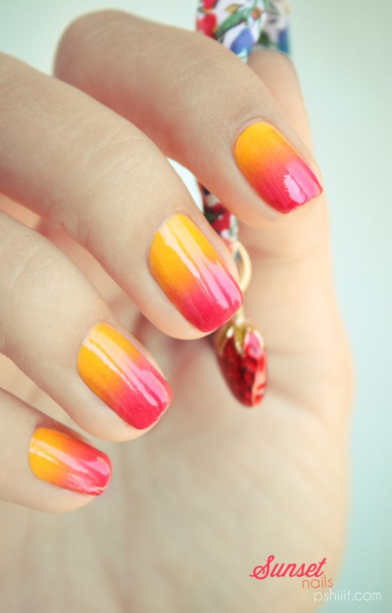 23 Very Latest Summer Ombre Nails Sunset With More Impressive Designs