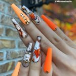 30 Awesome Summer Nail Neon Orange Art Ideas Only For You
