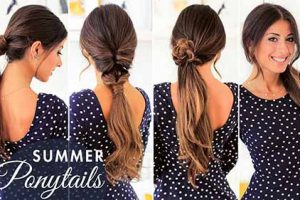 4 Easiest And More Gorgeous Summer Ponytail Hairstyles With Tutorial