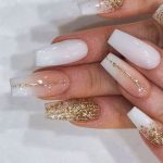 25 Coffin Nail Designs with Rhinestone on One or More finger 2021