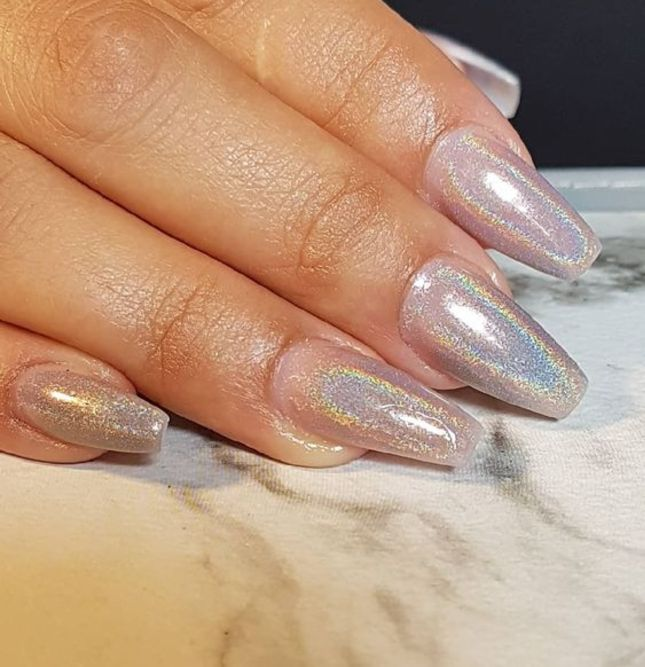 25 Gorgeous Hologram Acrylic Designs for Your Beautiful Nails 2021