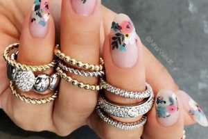 30 Cute and Sexy Spring Nail Art Flowers Floral Designs