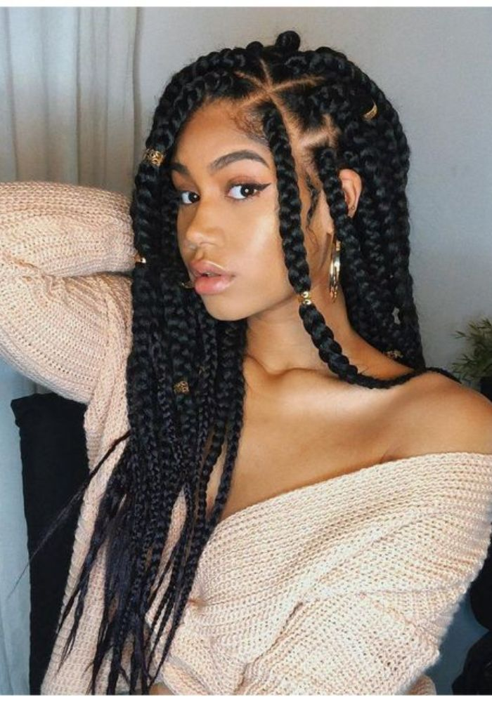 Braids Hairstyles For Beautiful Long Black Hair